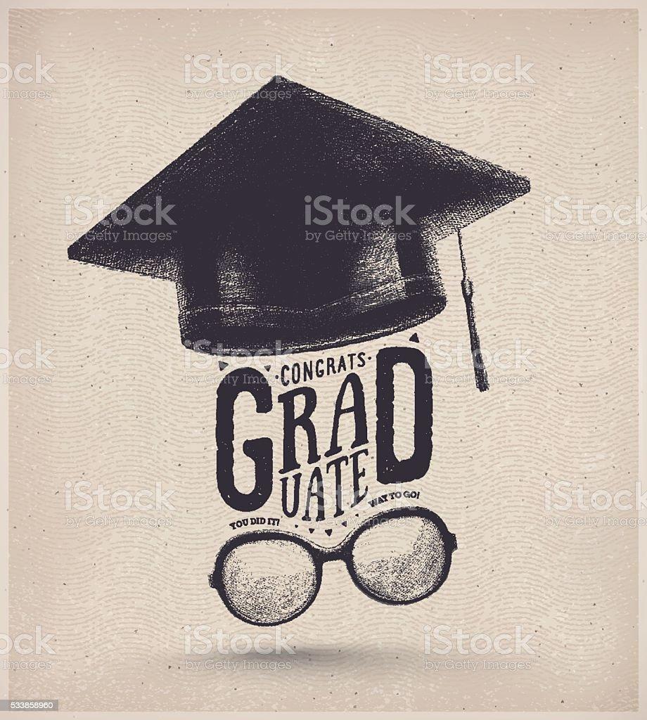 Graduación de año - ilustración de arte vectorial