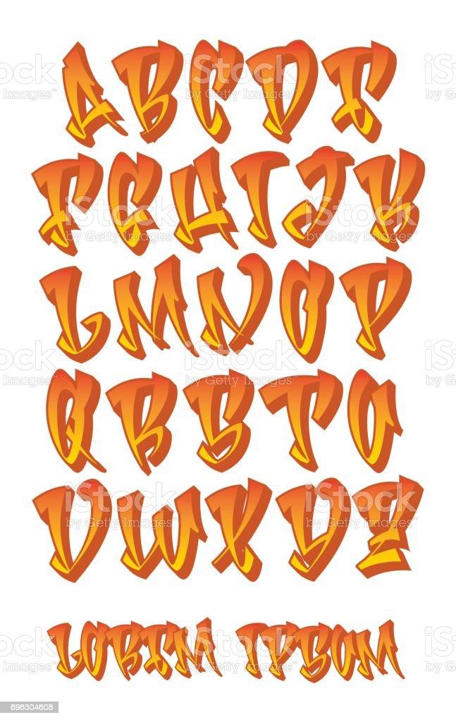 Graffiti 3D Alphabet Hand Written