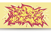 Graffiti abstract background wildstyle,vector.