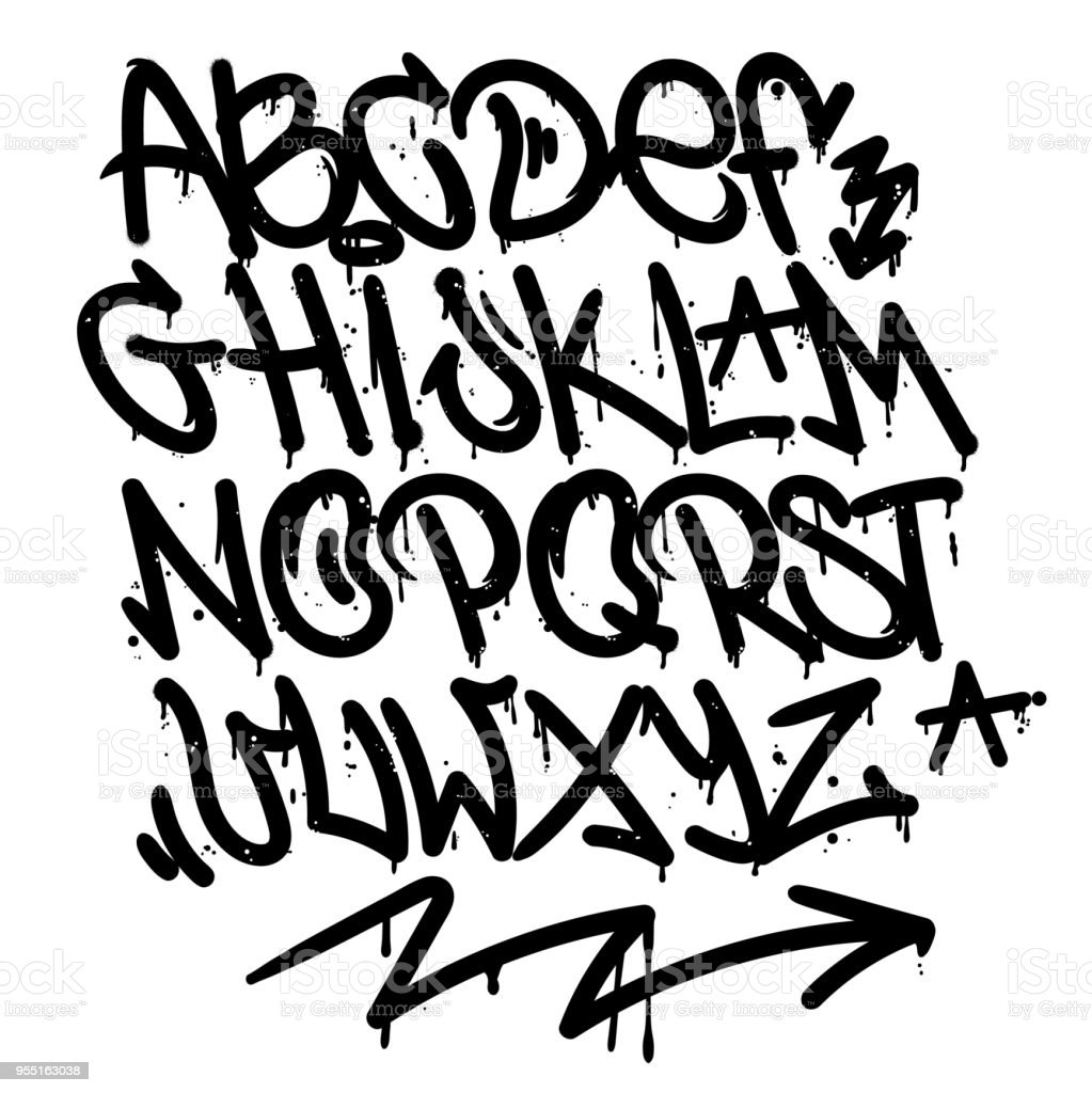 Graffiti Alphabet Stock Illustration Download Image Now Istock