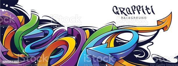 Fond De Flèches De Graffiti Vecteurs libres de droits et plus d'images vectorielles de Abstrait