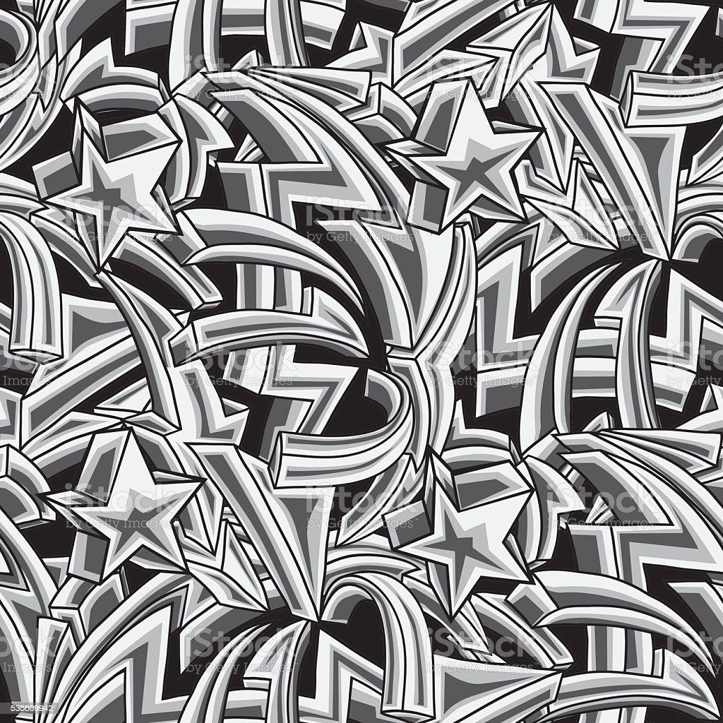 Graffiti Arrows Seamless Background Stock Vector Art