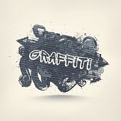 Graffiti art, abstract grunge banner. Illustration contains transparency and blending effects, eps 10