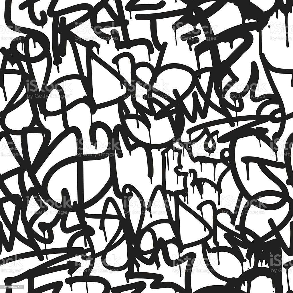 Graffiti background seamless pattern vector art illustration