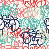 istock Graffiti background seamless pattern 531855244