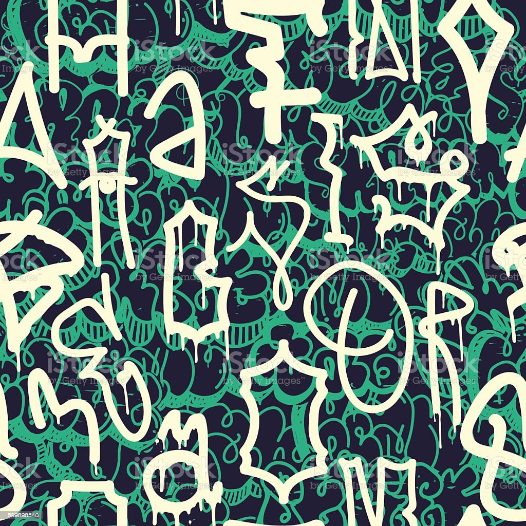Graffiti background seamless pattern royalty free graffiti background seamless pattern stock vector art