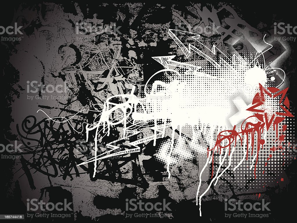 Graffiti Background vector art illustration