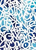 Graffiti hand-writtr letters . Vector background.