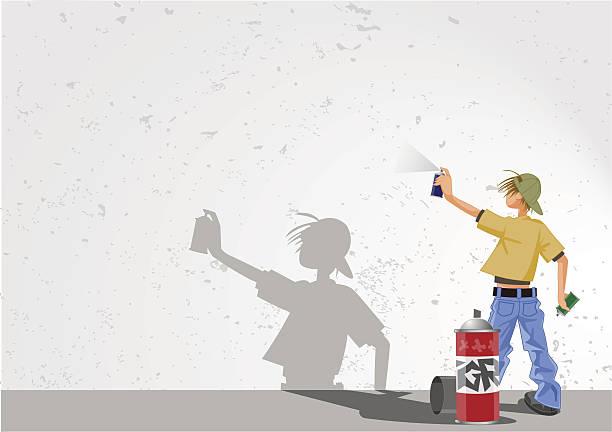 graffiti-jungen - kindersprüche stock-grafiken, -clipart, -cartoons und -symbole