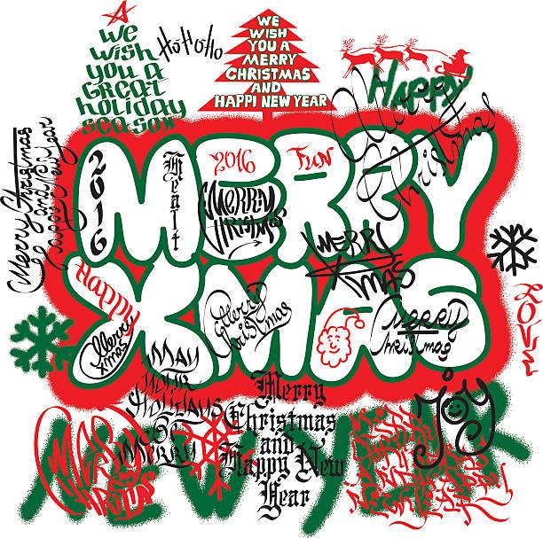 Christmas Graffiti Letters.Best Clip Art Of Graffiti Letters Illustrations Royalty