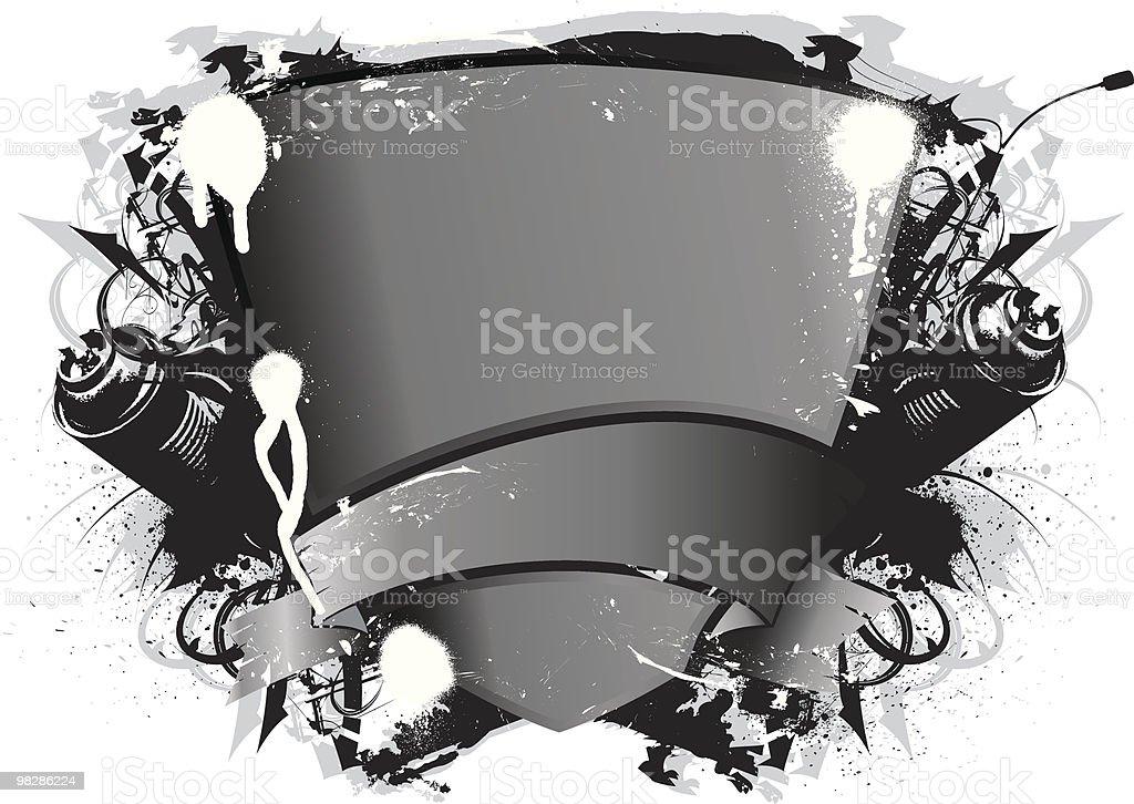 Graffiti Emblema graffiti emblema - immagini vettoriali stock e altre immagini di arancione royalty-free