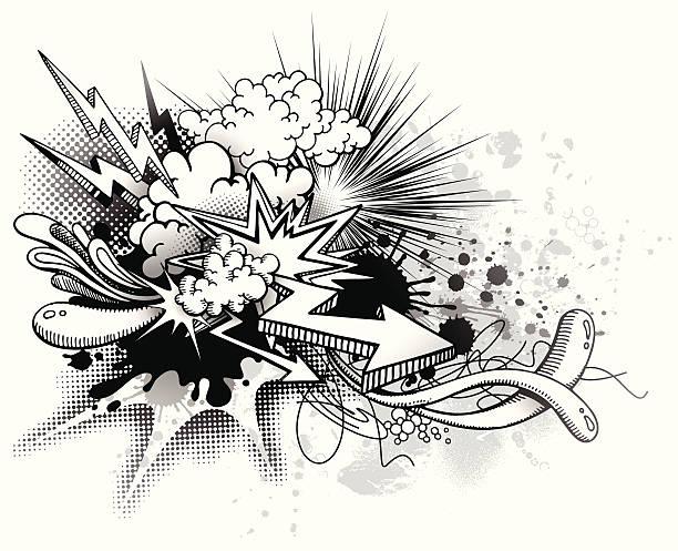 рост граффити - lightning stock illustrations