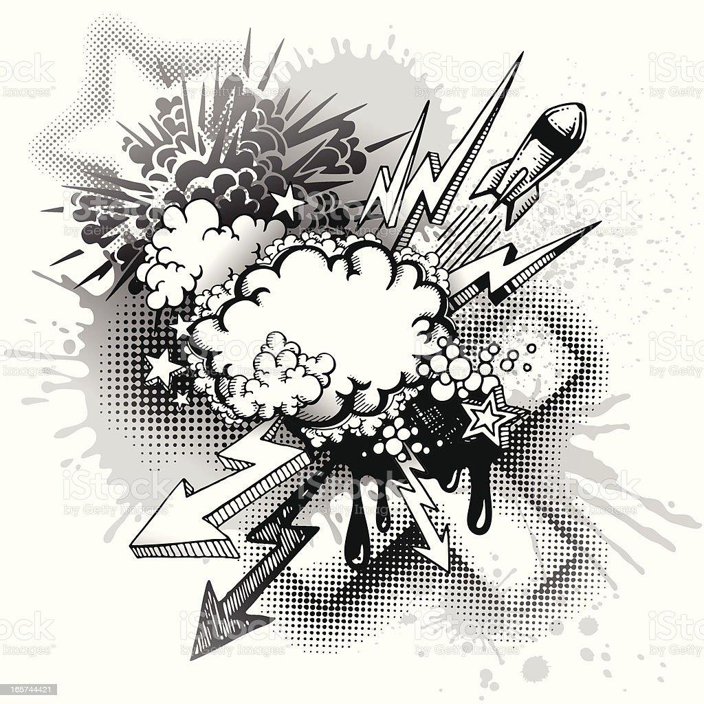 Graffiti Explosion Stock Illustration