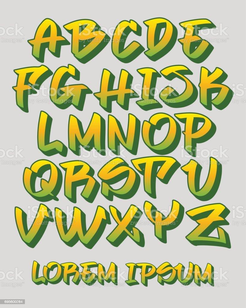 Free Graffiti Fonts Alphabet