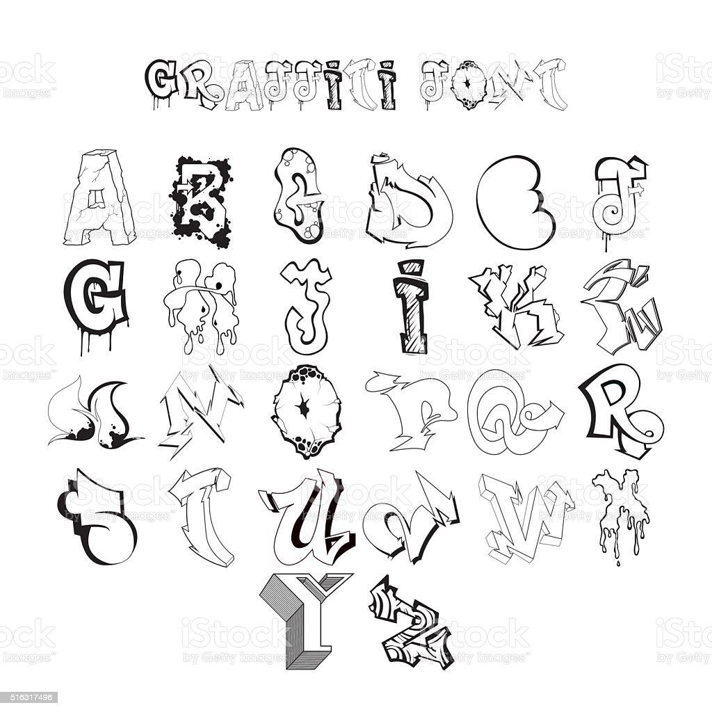 graffiti font alphabet letters hip hop grafitti design. Black Bedroom Furniture Sets. Home Design Ideas