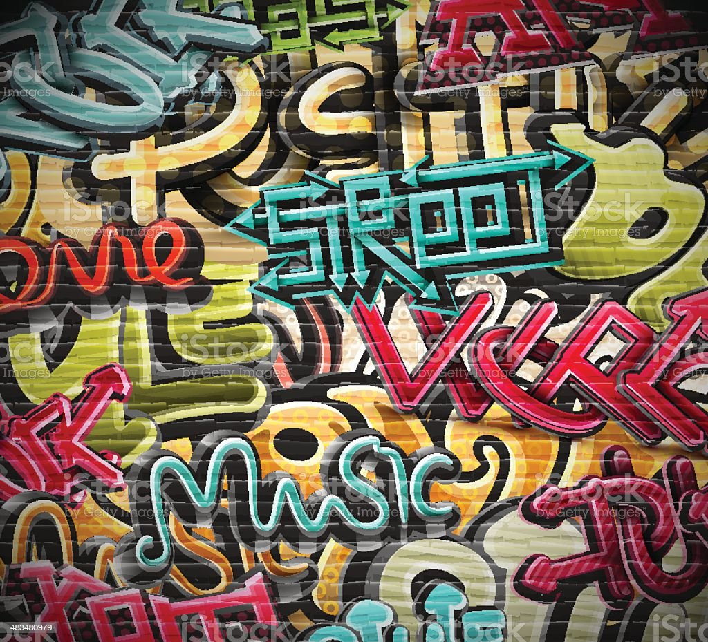 Graffiti grunge texture vector art illustration