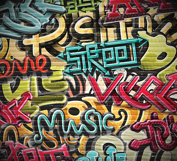 graffiti grunge texture - graffiti backgrounds stock illustrations, clip art, cartoons, & icons
