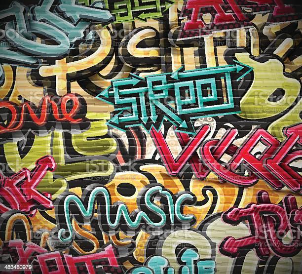 Graffiti Grunge De La Texture Vecteurs libres de droits et plus d'images vectorielles de Abstrait