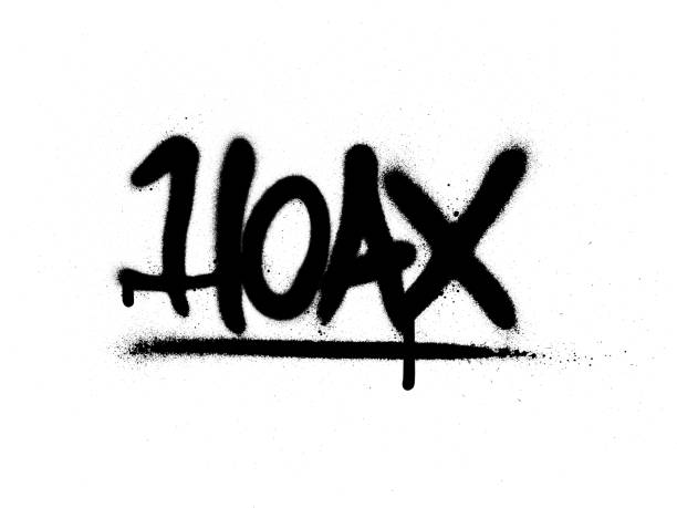 graffiti hoax word sprayed in black over white graffiti hoax word sprayed in black over white vandalism stock illustrations