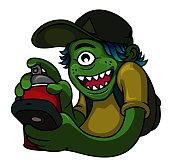 istock Graffiti Monster 1030653558