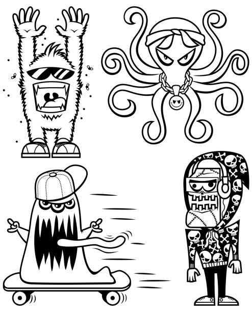 705 Scary Monsters Mutants Drawing Illustrations Royalty Free Vector Graphics Clip Art Istock