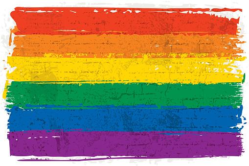 Graffiti rainbow flag