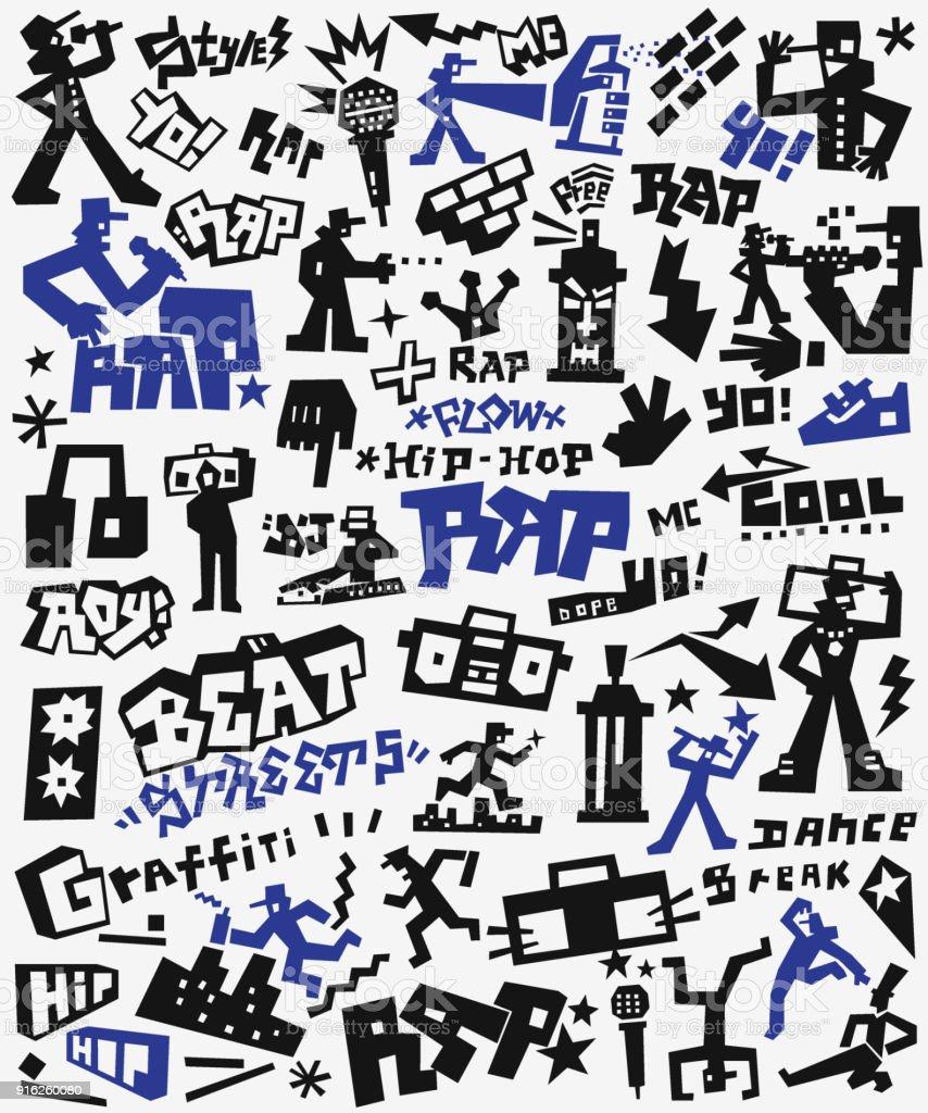 Graffiti Rap Doodles Royalty Free Graffiti Rap Doodles Stock Vector Art More Images