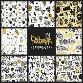 Graffiti seamless patterns set