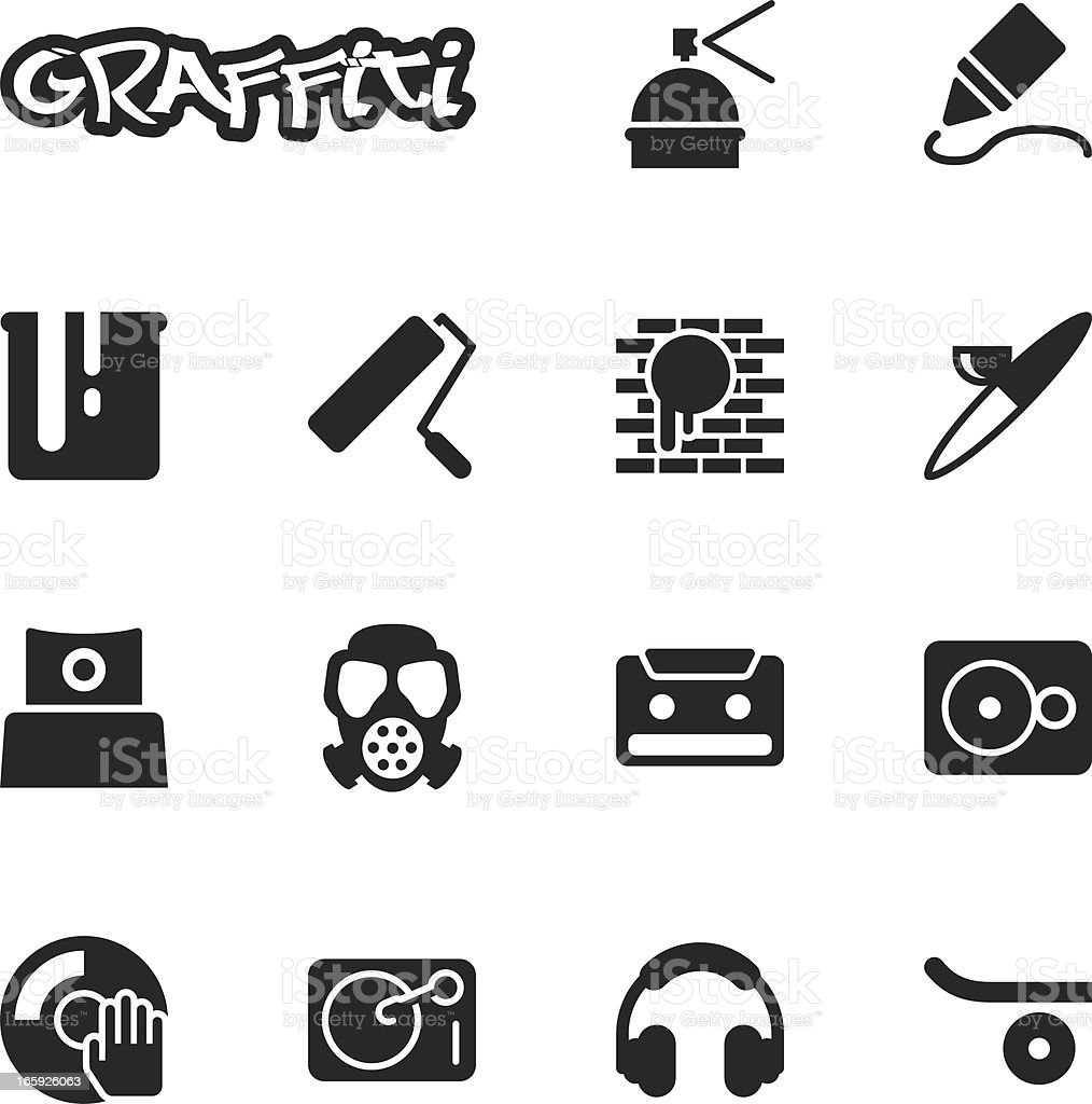 Graffiti Silhouette Icons Stock Vector Art & More Images