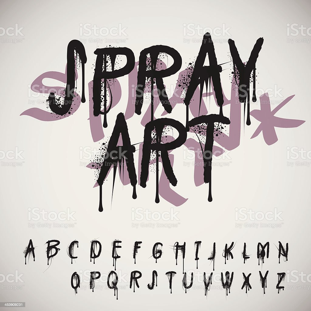 Graffiti alphabet splash - Illustration vectorielle