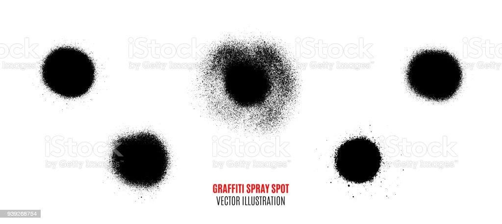 graffiti spray spot set vector spray paint spot stock vector art