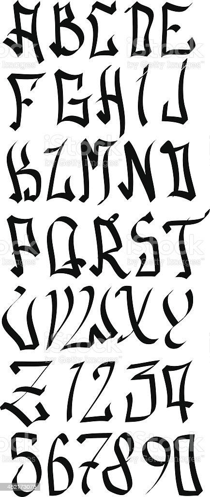 Amado Graffiti Street Alfabeto Letras - Arte vectorial de stock y más  CQ33