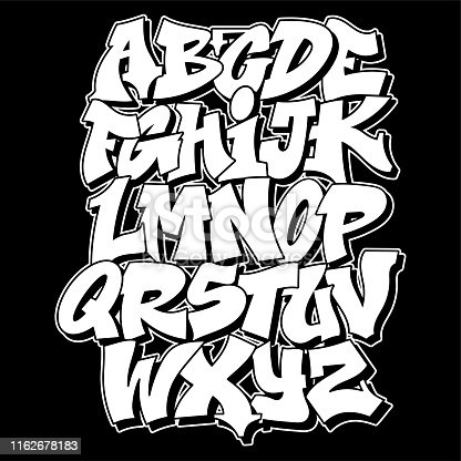 istock Graffiti style lettering text design 1162678183