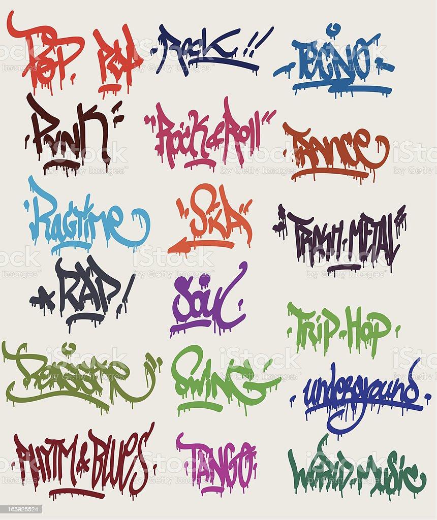 Graffiti Tags Royalty Free Graffiti Tags Stock Vector Art More Images Of 1980