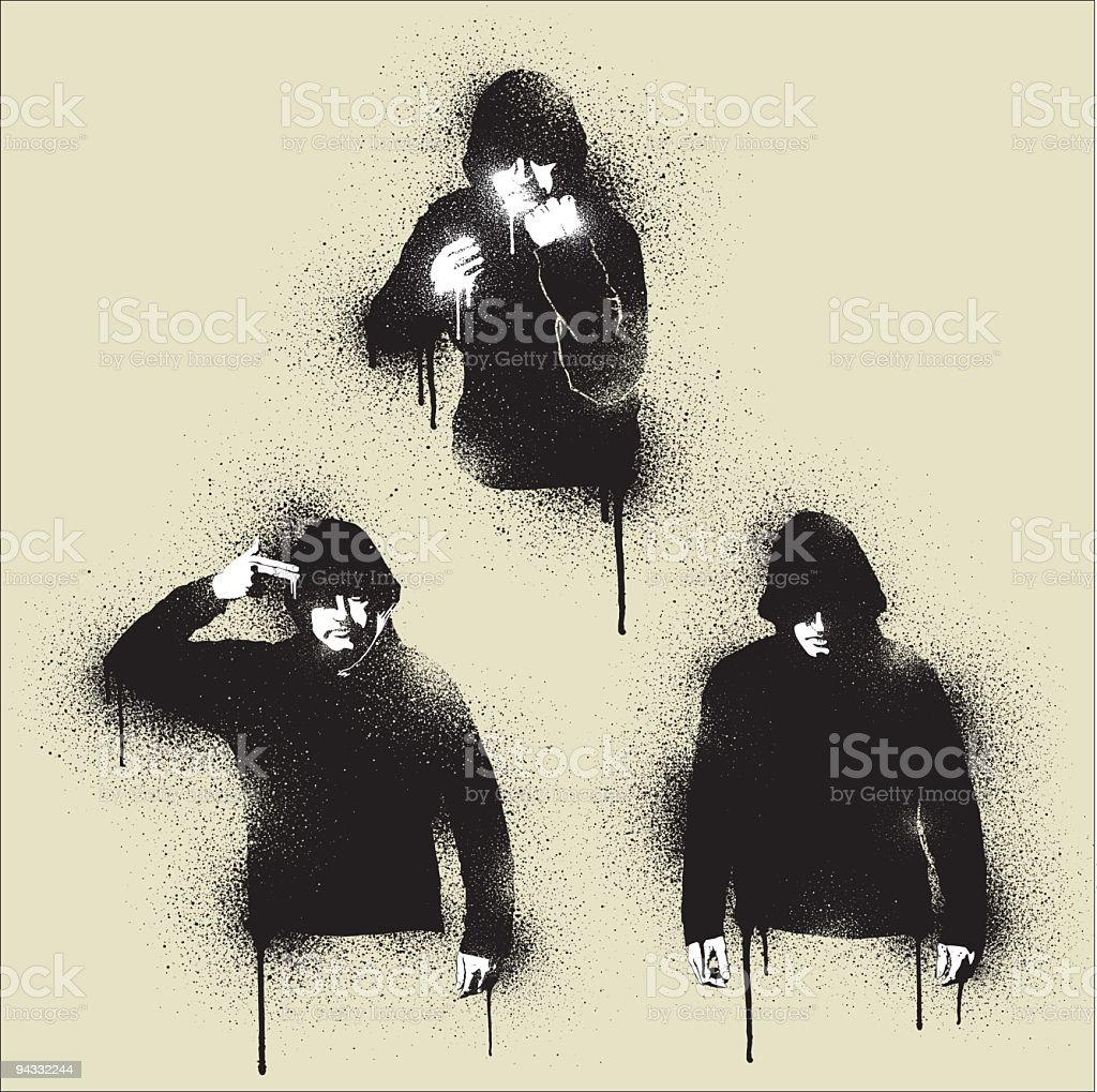 Graffiti - Urban Angst vector art illustration