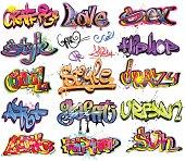 Graffiti urban art design