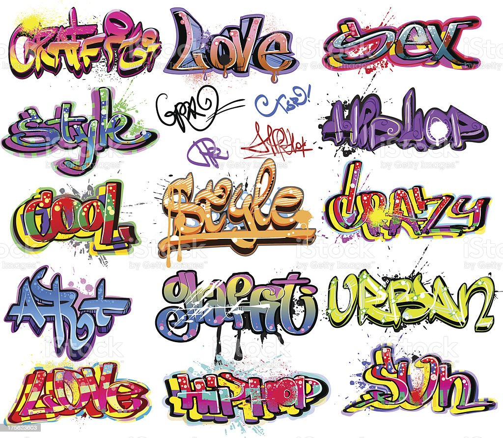 Graffiti urban art design vector art illustration