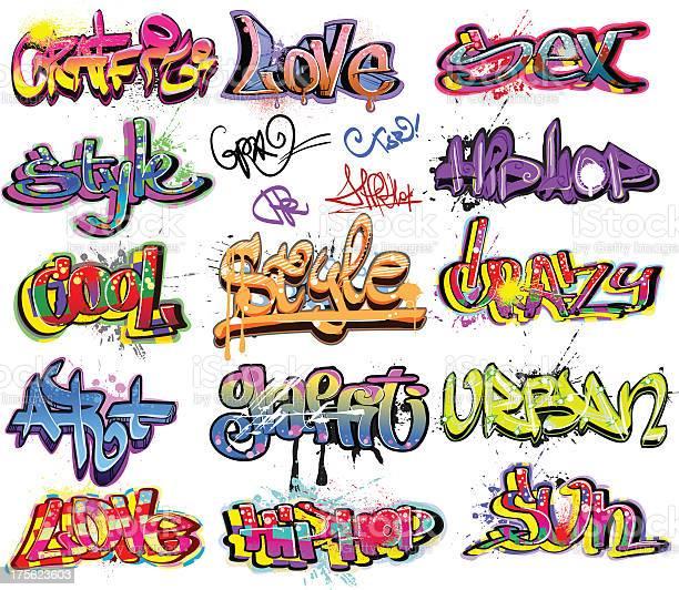 Graffiti Art Urbain Design Vecteurs libres de droits et plus d'images vectorielles de Abstrait