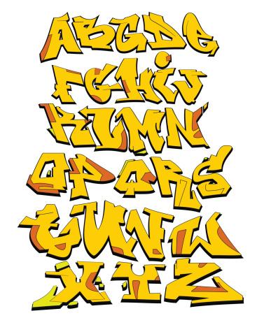 Graffiti vector alphabet