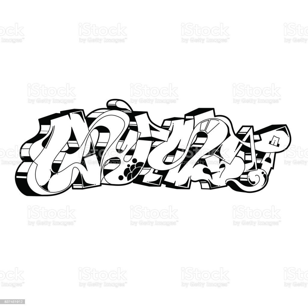 Graffiti Vector Urban Art Stock Illustration