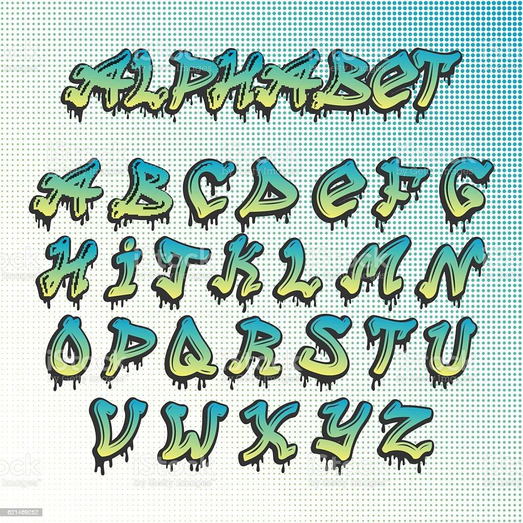 graffiti alphabet vorlagen vektorgrafiken und illustrationen - istock, Einladung
