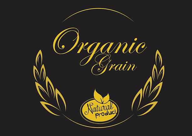 natürlichen bio-produkt-grain-leder - spitzenkernstück stock-grafiken, -clipart, -cartoons und -symbole