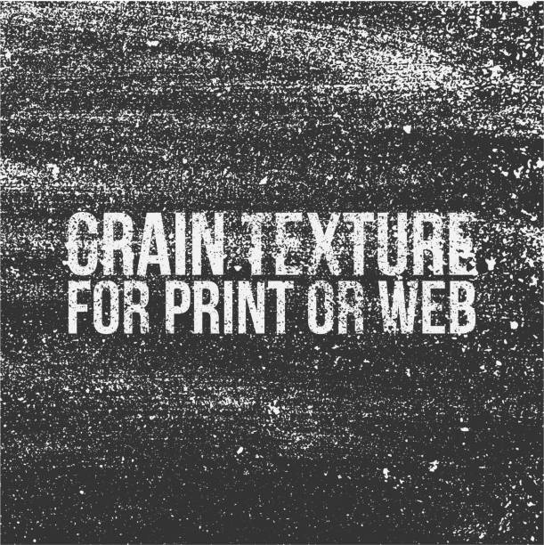 Grain Texture For Print Or Web Vector Art Illustration