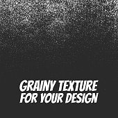 Grainy Dust or Snow Grunge Texture for web Design or Print. Vector Illustration