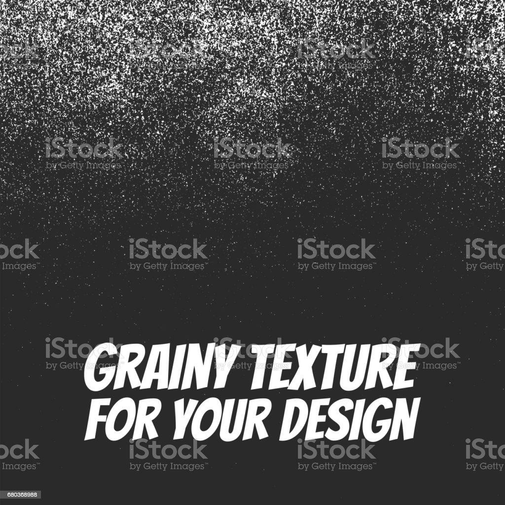 Grainy Dust or Snow Grunge Texture vector art illustration