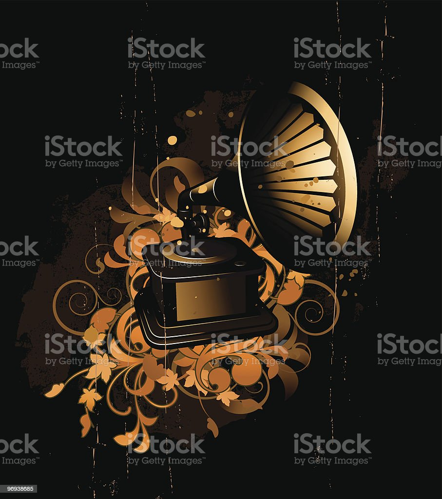 gramophone royalty-free gramophone stock vector art & more images of abstract