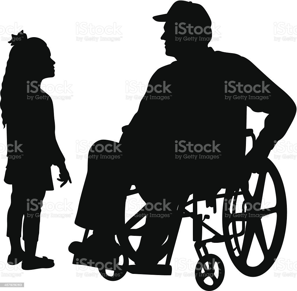 Gramps Vector Silhouette royalty-free stock vector art