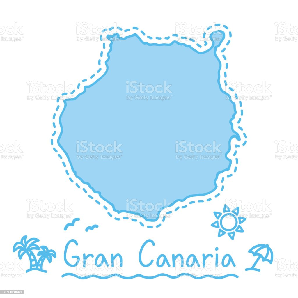 Map Of Spain Gran Canaria.Gran Canaria Island Map Isolated Cartography Concept Canary Islands