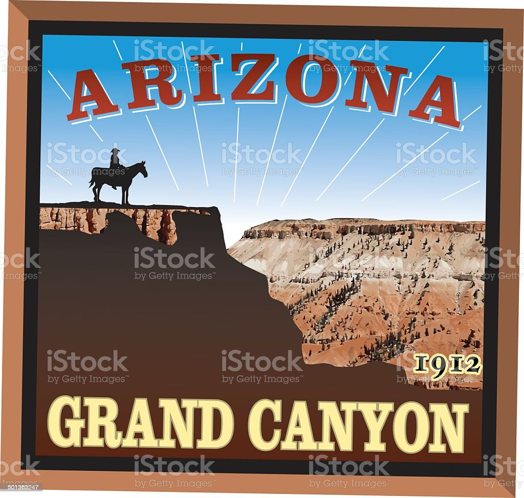 Grand Canyon Decal Graphic royalty-free stock vector art