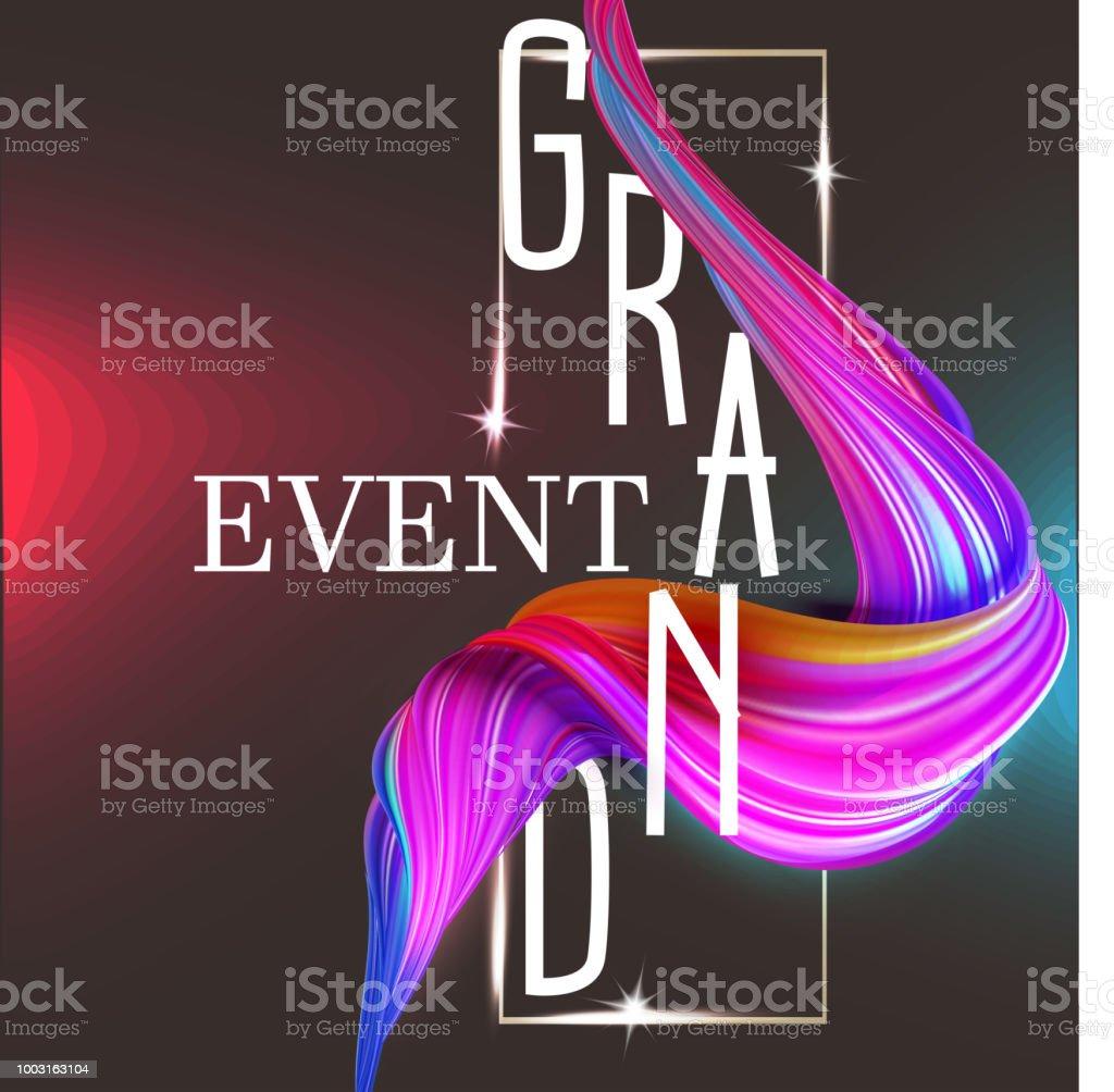 Ilustración De Tarjeta De La Invitación Del Gran Evento Con